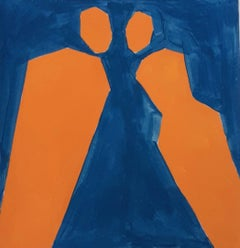 Eureka! - Figurative Painting on Paper, Young art Minimalism, Vibrant