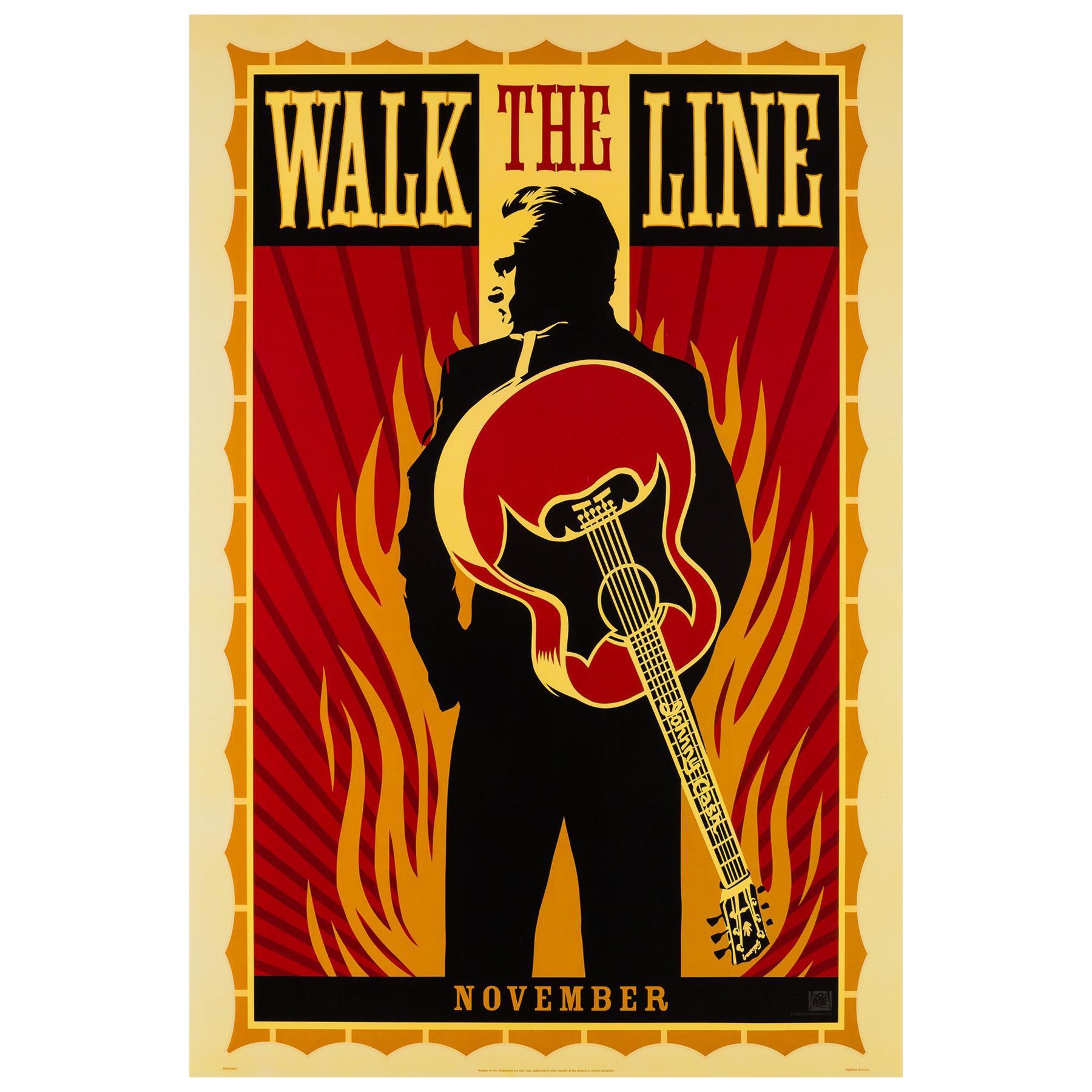 """Walk the Line"", 2005 US 1 Sheet Advance Film Poster, Fairey"