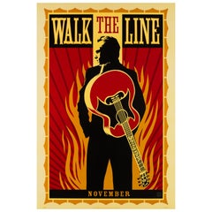 """Walk the Line"", 2005 US 1 Sheet Advance Film Poster, Fairey"