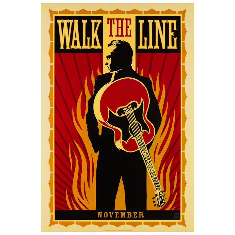 """Walk the Line"", 2005 US 1 Sheet Advance Film Poster, Fairey For Sale"
