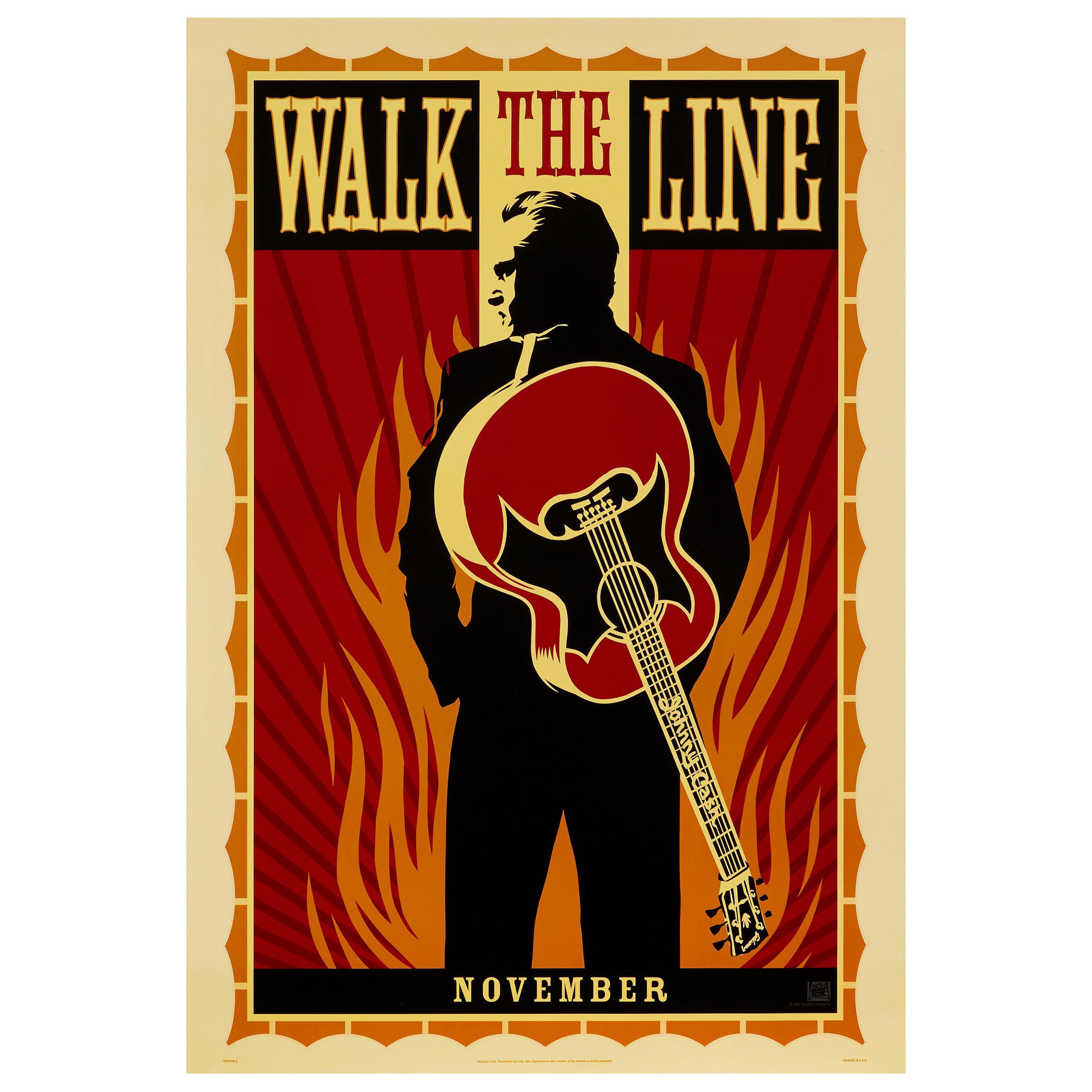 'Walk the Line' Original Vintage Movie Poster by Shepard Fairey, American, 2005
