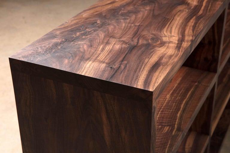 Modern Walker Bookcase - Natural Wood Media Center For Sale