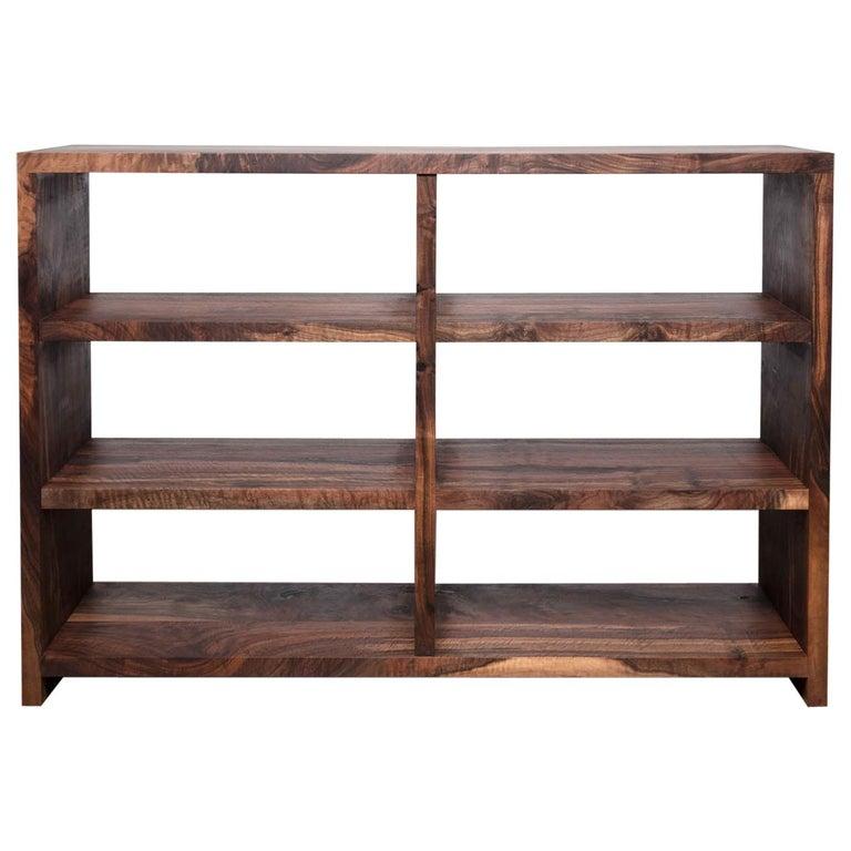 Walker Bookcase - Natural Wood Media Center For Sale