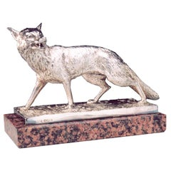 Walker & Hall Sterling Silver Fox.