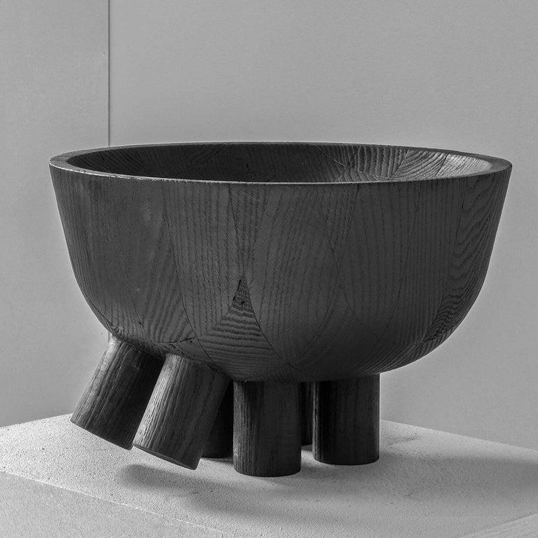 Modern Walking Bowl in Iroko Wood, Arno Declercq For Sale