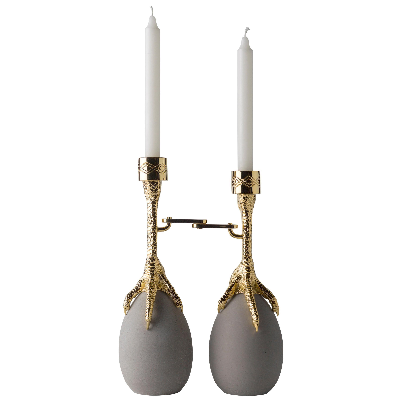 Walking Hen Gold Plated Candleholder, Limited Edition by Aisha Al Sowaidi