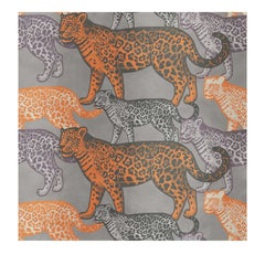 Walking Leopards Orange Panel #2