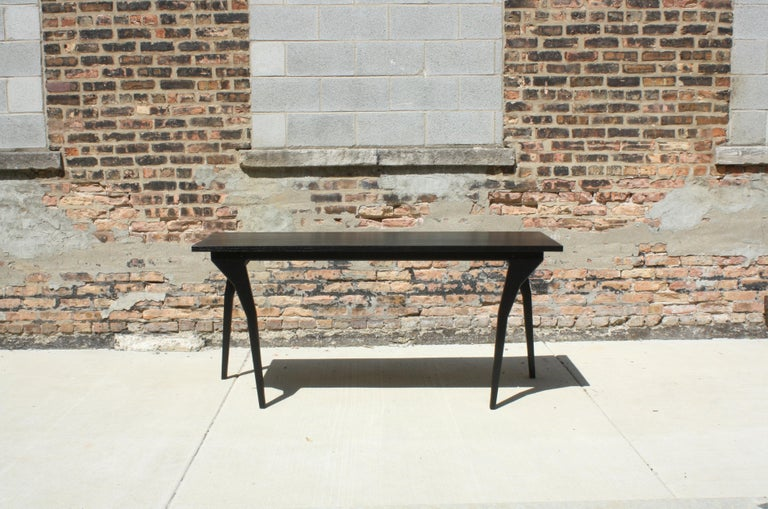 American Walking Table Handmade Customizable Console Table or Desk by Laylo Studio For Sale