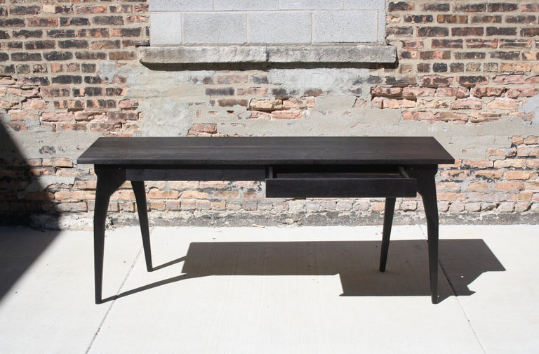 American Walking Table Handmade Desk or Console Table with Drawers by Laylo Studio For Sale