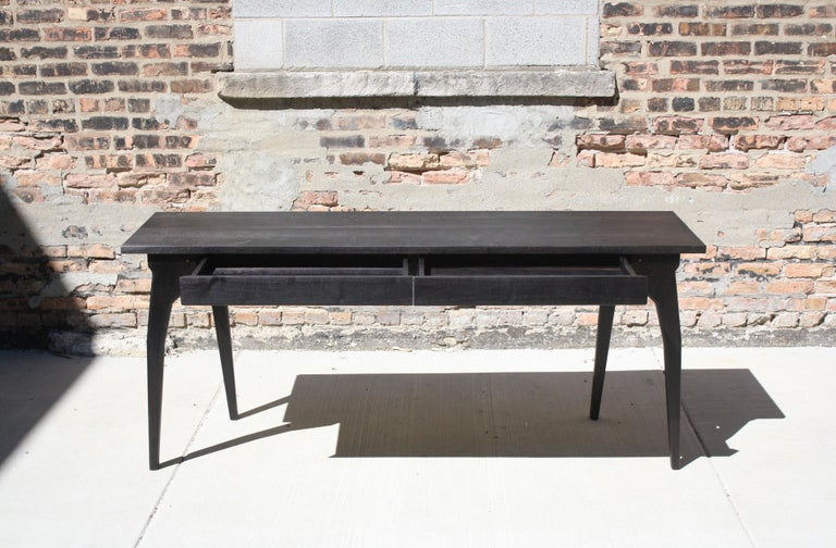 Walking Table Handmade Desk or Console Table with Drawers by Laylo Studio In New Condition For Sale In Chicago, IL