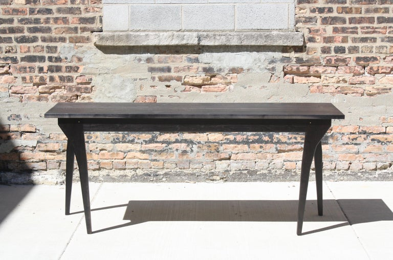 Contemporary Walking Table Handmade Desk or Console Table with Drawers by Laylo Studio For Sale