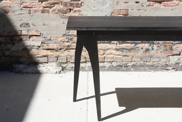 Walking Table Handmade Desk or Console Table with Drawers by Laylo Studio For Sale 2