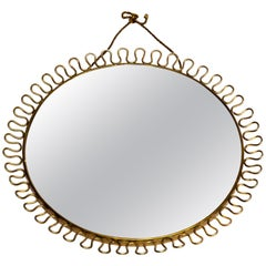 Wall Brass Loop Mirror by Josef Frank, Sweden, 1950s