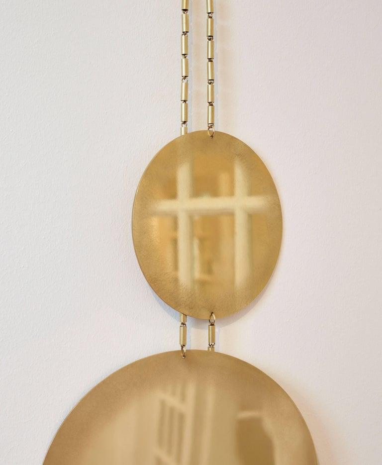 Belgian Wall Brass Mirror For Sale