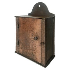 Wall Cabinet, Shaker Inspired, Found Steel with Natural Rusted Patina