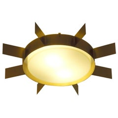 Wall Ceiling Lamp Sun by Gio Ponti Limited Edition 2012 2017 Satined Brass