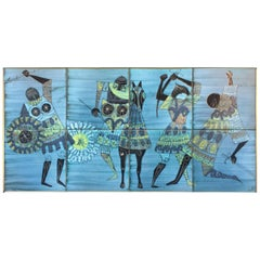 Wall Ceramic Panel by Jean De Lespinasse, circa 1950