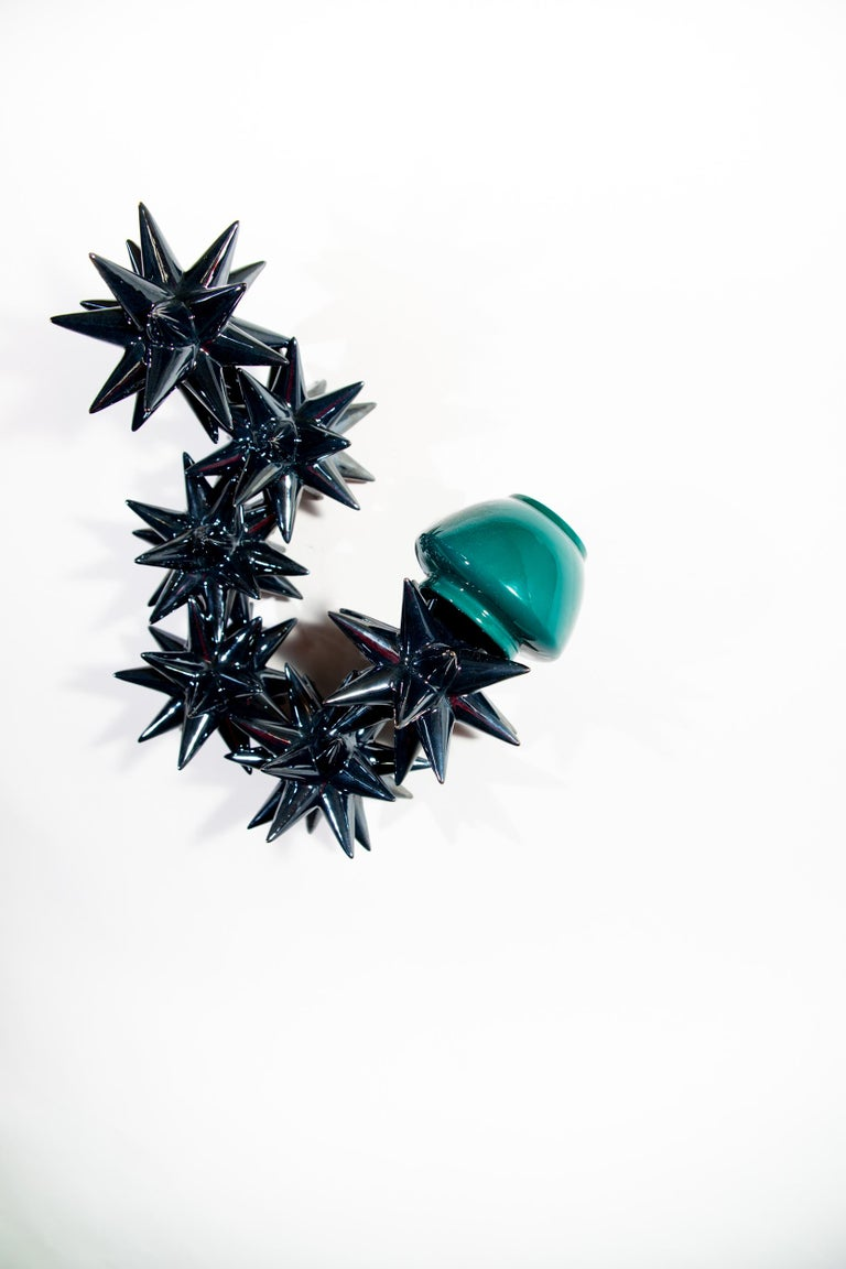Glazed Wall Ceramic Sculpture by Andrea Salvatori Italy Contemporary, 21st Century For Sale