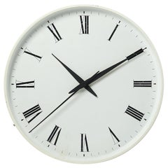 Wall Clock, Designed by Henning Koppel for Louis Poulsen, Denmark, 1950s