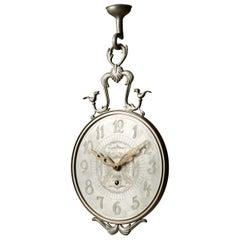 Wall Clock for Firma Svenskt Tenn Stockholm, Sweden, 1920s, Pewter and Brass