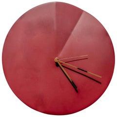 Wall Clock 'Oree' by Ocrùm 'Red Ceramic'
