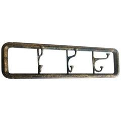 Wall Coat Rack Midcentury or Art Deco Brass, 1950s