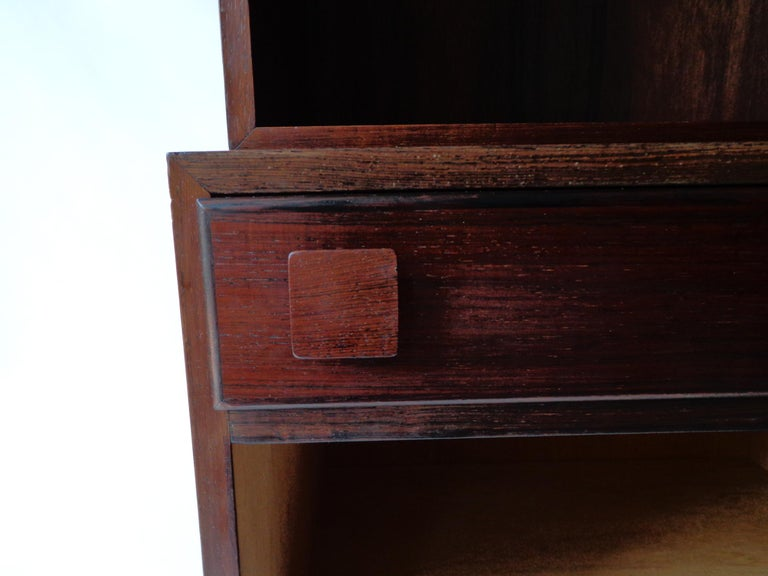 Scandinavian Modern Wall Console of Rosewood Designed by Takashi Okamura and Erik Marquardsen, 1960s For Sale