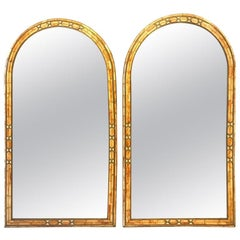 Wall Console or Pier Mirror Palatial Moroccan Hollywood Regency Fashioned, Pair