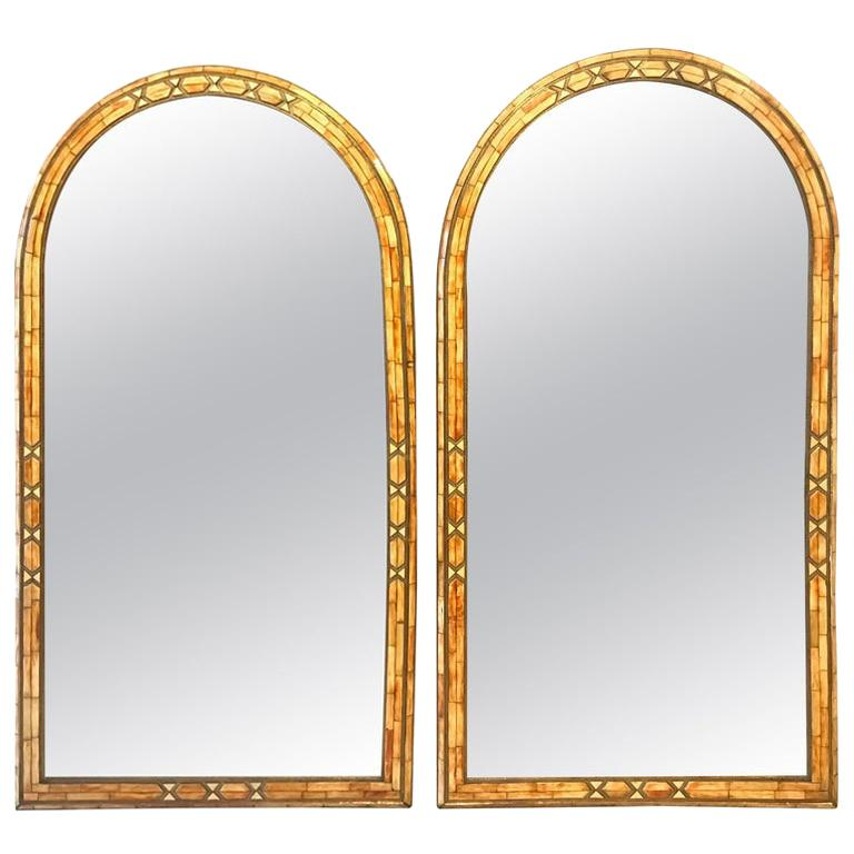 Palatial Moroccan Hollywood Regency Style Wall Console or Pier Mirror, a Pair  For Sale