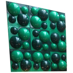 Wall Elements in Dark and Light Green Designed by Verner Panton for Visiona2