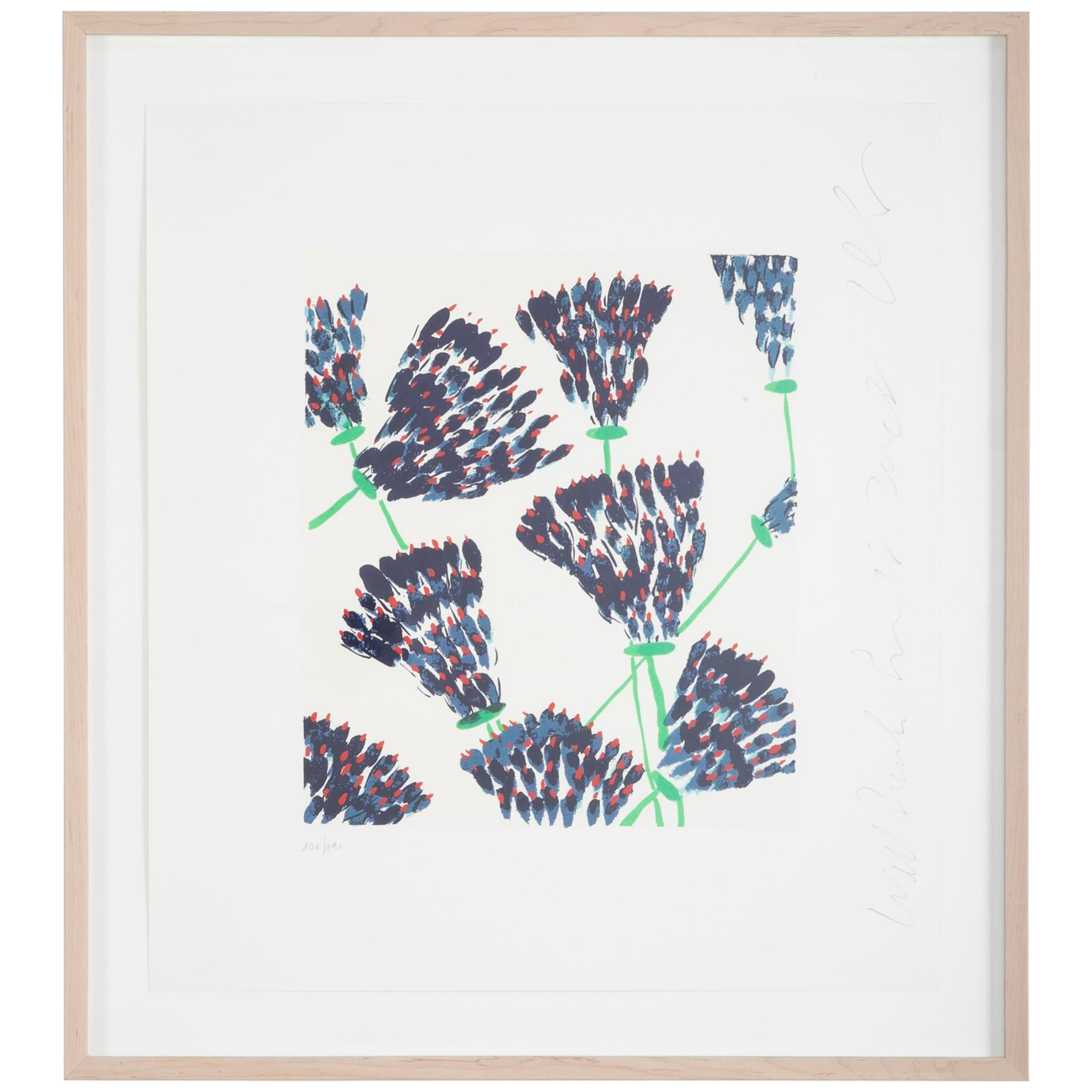 """Wall Flowers"" Serigraph of Flowers by Donald Sultan"