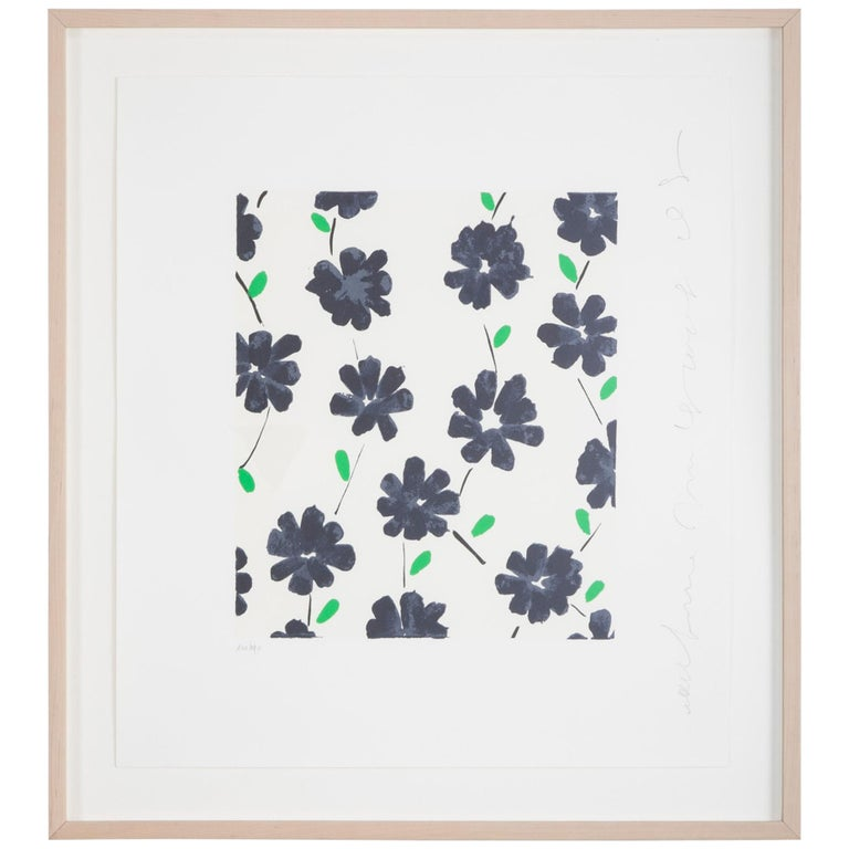 """""""Wall Flowers"""" Serigraph of Flowers by Donald Sultan For Sale"""