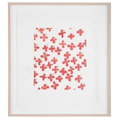 """""""Wall Flowers"""" Serigraph of Flowers by Donald Sultan"""