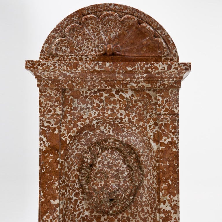 Wall Fountain out of Adnet Marble, 19th Century For Sale 4