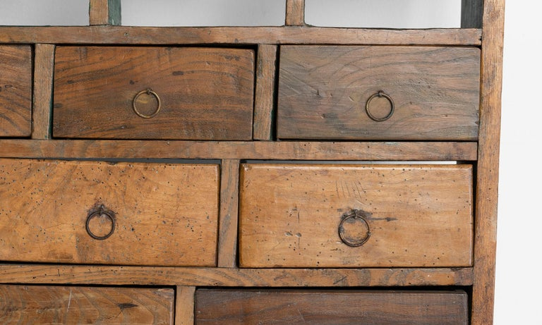 Wall Hanging Bank of Drawers In Good Condition For Sale In Culver City, CA