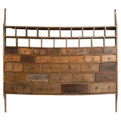 Wall Hanging Bank of Drawers