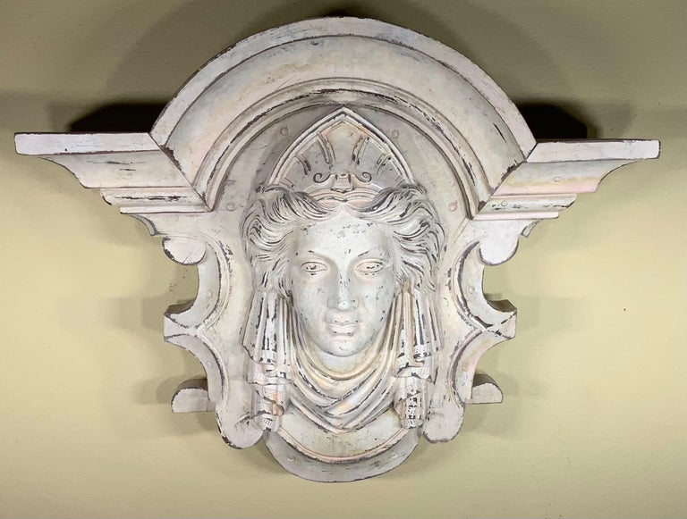 Hand-Carved Wall Hanging Minerva