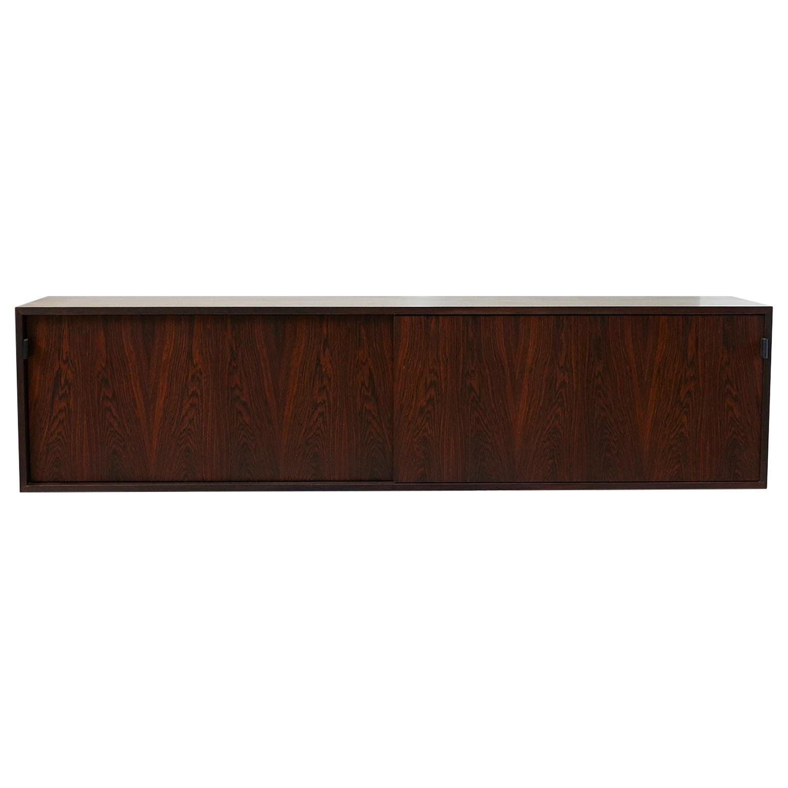 Wall Hanging Rosewood Credenza by Florence Knoll