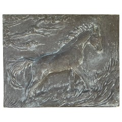 Wall Hanging Sculpture of a Horse