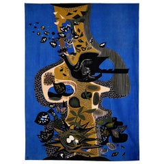"Wall Hanging Tapestry ""The Bird And Its Nest"" by Andre Minaux, Paris, Ca. 1965"