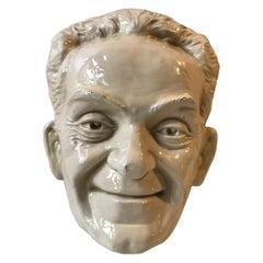 Wall Hung Face Mask of Richard Nixon, 1970s