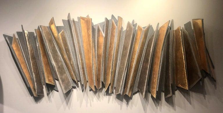 Wall Installation Ceramic 'Stoneware', 24-Carat Gold and Platinum, 21st Century For Sale 2