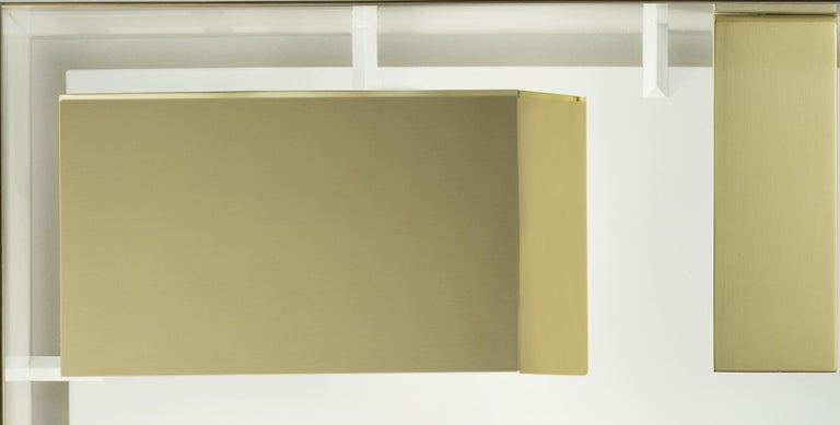 Modern Wall Lamp Screen of Light Design Gio Ponti Italy Limited Edition Polished Brass For Sale