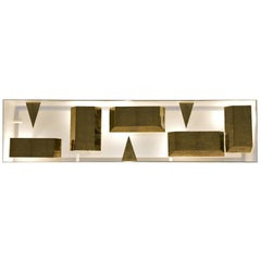 Wall Lamp Screen of Light Gio Ponti Limited Edition 2012-2017 Not Treated Brass
