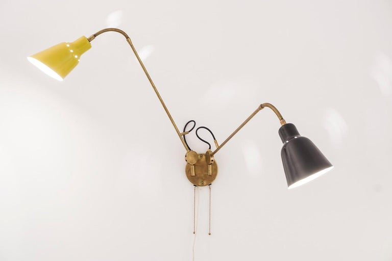 Mid-Century Modern Wall Light by Angelo Lelli, circa 1950 For Sale