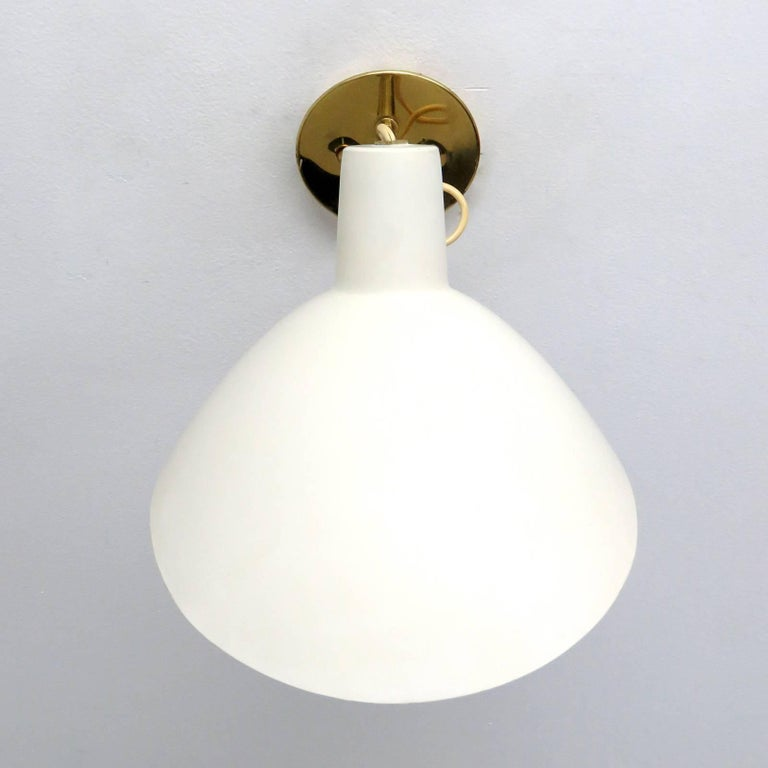 Enameled Wall Light by Vittoriano Viganò for Arteluce, 1950s For Sale