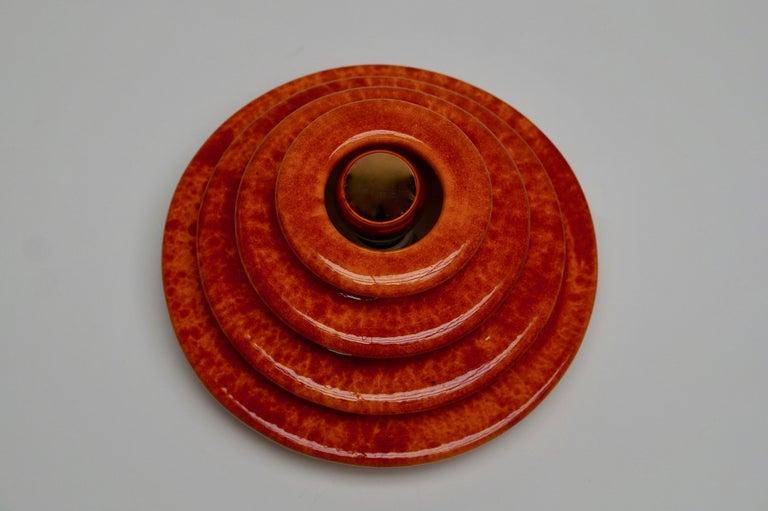 Enameled Wall Light or Flush Mount in Ceramic For Sale
