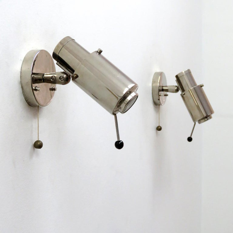 Plated Wall Lights by Jacques Biny for Lita For Sale