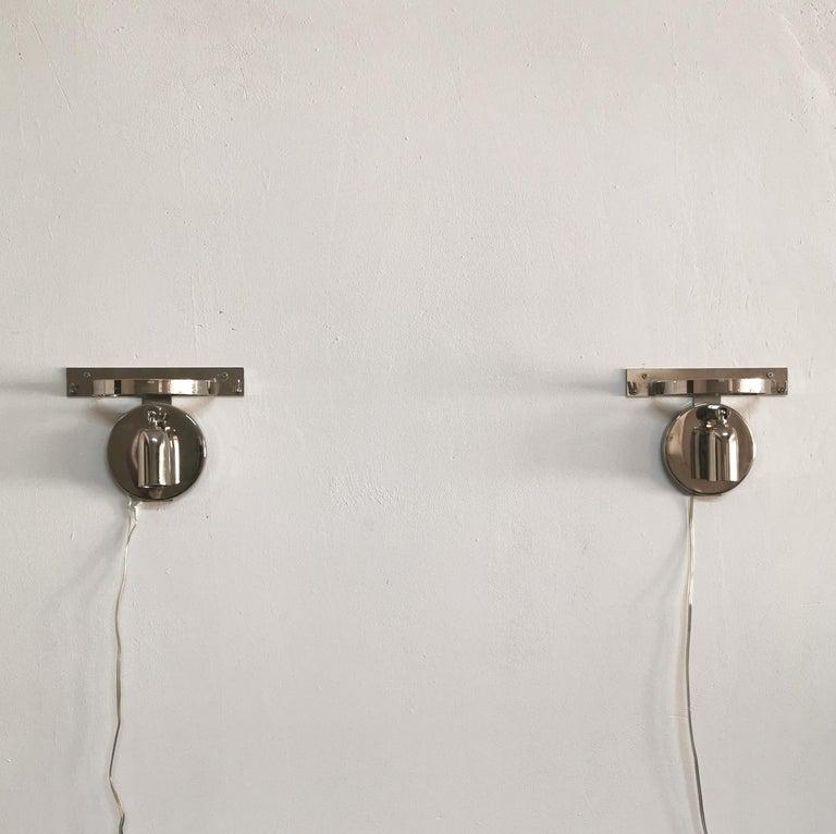 Wall Lamps Murano Glass by Venini Metal Aluminum Chromed Italy 1980s Set of 2 8