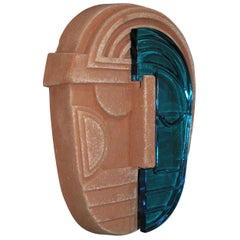 Wall Mask in Terracotta, Made in Italy